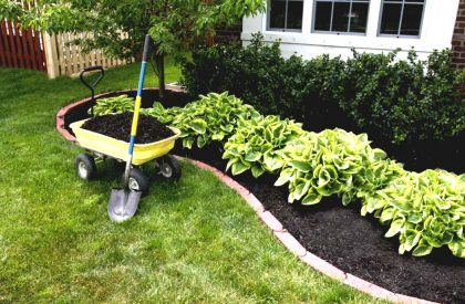 landscaping-ideas-with-black-mulch-post-modern-furniture